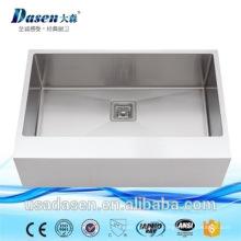 Edelstahl Undermount Küche Upc verwendet Schürze vorne Messing Waschbecken