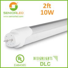 UL Dlc T8 / T10 / 4FT / 8FT Luz de tubo de alumínio do diodo emissor de luz