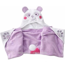 Baby back sweat 100% bamboo hooded super fluffy premium bath towel --Mrs bear