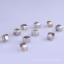 AAA grau cubo contas de vidro