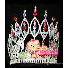 Модный милый животное райский алмаз тиара