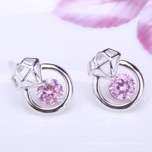 dernière fantaisie design boucle d'oreille en or bijoux émeraude naturelle diamant boucle d'oreille de conception, 18k or jaune diamant boucle d'oreille rhodium plaqué bijoux est votre bon choix