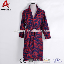 Double layer printed high quality super soft adults micromink bathrobe unisex bathrobe