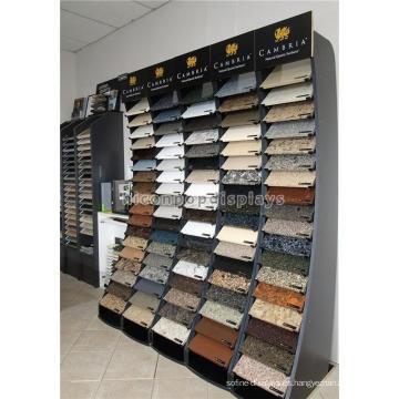 Estante permanente durable de la exhibición de la teja, negro Madera 90 pedazos de exhibición de los azulejos de cerámica