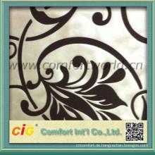 Mode neuesten weichen Polyester Beflockung Stoff für Polsterung Vorhang
