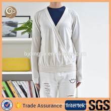 Blanc tricoté Chine en gros pull en laine design pour fille
