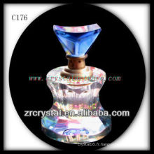 Belle bouteille de parfum en cristal C176