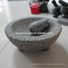 Kräuter und Gewürze Werkzeuge natürliche Kräuter Gewürze Werkzeuge Granit Molcajete Mörser und Pistill zum Mahlen