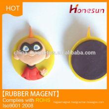 customized rubber fridge magnet soft PVC covered