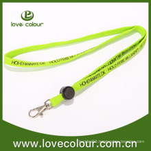 Fashion FLUO Green Silk-Screen Tubular Lanyard