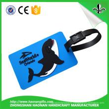 Nouveau balise de bagage souple de PVC de logo adapté aux besoins du client de cadeaux promotionnels