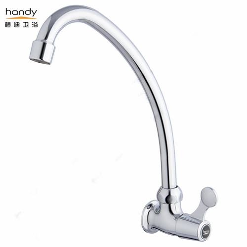 brass chrome kitchen faucet wall mounted installation