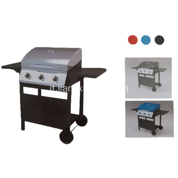 Barbecue a gas per barbecue a 3 fuochi all'aperto