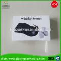9 pièces par pierre grise gravée de vin de lave pour des accessoires de barre