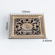 Bathroom Archaize carve patterns brass square floor drain