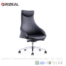 Prix de chaise de bureau d'usine de Orizeal Chine, chaise de bureau ergonomique, chaise de bureau de direction pivotante en cuir (OZ-OCL012A)