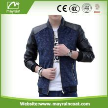 Custom Fashion PU Leather Jacket For Man