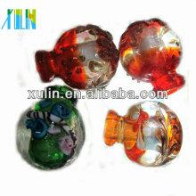 Collar colgante de la botella de perfume de Murano de muchos colores Collar colgante de cristal de Murano