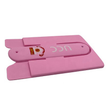 2-in-1 Stick-on Silicone ID Credit Card Holder Phone Stand
