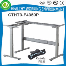 motorisiertes verstellbares Tischbein r unterstützt durch pneumatische Strebe & höhenverstellbarer Tischrahmen