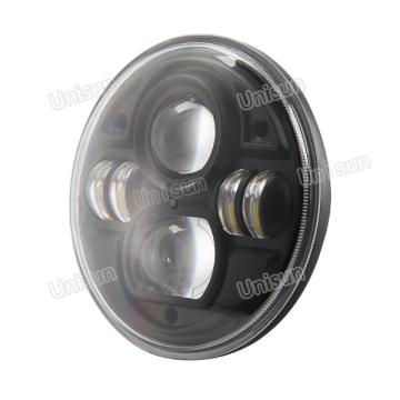 Luz de camión auxiliar LED redonda de 7 pulgadas 12V / 24V 70W