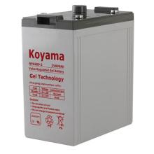 Batterie de gel stationnaire 2V pour Telecom System 2V600ah