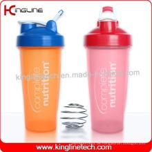 600ml Plastik Protein Shaker Flasche mit Mixer Mixer Ball und Griff (KL-7010D)