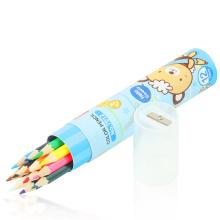 FQ marca niños naturaleza plomo personalizado escuela color de madera lápiz de 12 colores
