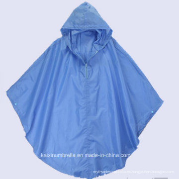 Goog Calidad Azul Poncho de lluvia de PVC (Zip Is Available)