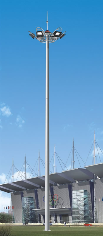 Hot dip galvanized outdoor high mast light poles