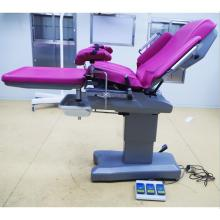 Hospital electrical obstetric birthing bed table
