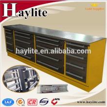 armario de herramientas de banco de trabajo de almacenamiento de acero recubierto de polvo