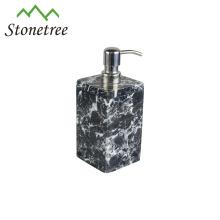 Venta al por mayor nuevos accesorios de baño negro mármol jabón dispensador de loción