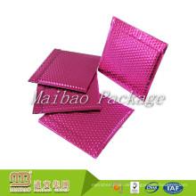 Freies Beispiel-Wasser-Beweis-Gewohnheits-Logo farbiger glänzender rosa Aluminiumfolie-metallischer Blasen-Werbungs-Umschlag