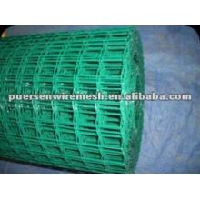 Betão de concreto verde revestido de malha de arame soldada