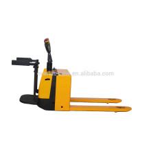 Económica mini batería pallet truck pallet jack Transpaleta eléctrica con capacidad de 1600 kg