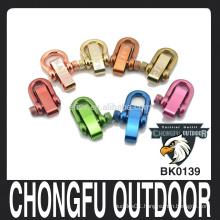 Adjustable stainless steel D Shackle for paracord bracelet