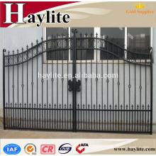 Diferentes tipos de diseños de parrilla de puerta de hierro con chapa galvanizada