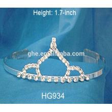 Corona tiaras cristal rhinestone boda accesorios para el cabello alta boda tiaras cinta coronas