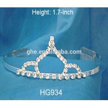 Couronne tiaras en cristal de strass mariage accessoires de cheveux haute tiaras de mariage couronnes de ruban