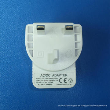Color blanco 5V 2.1A Reino Unido Cargador USB para teléfono móvil