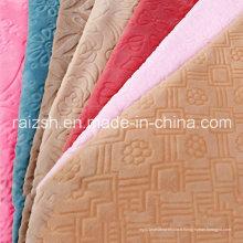 Tissus de flanelle d'impression simple / double face pour textile domestique