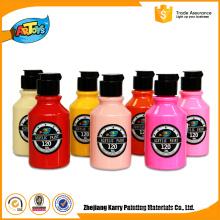 120 ML venda Quente personalizado garrafa de Cor tinta acrílica Adulto Arte brilho no escuro