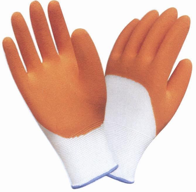 Cotton Safety Glove With Latex Coated