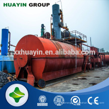 Removal color odor waste oil distillation to diesel