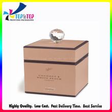 Diamond Decorate Paper Candle Gift Box