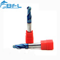 BFL Carbide Ball Nose CNC Milling End Mill , Carbide 2, 4 Flute Ball Nose Milling Cutter