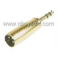 Bujão de microfone 3P para adaptador de plugue estéreo de 6,35 mm
