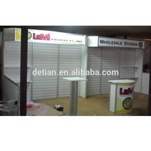 exhibition design service, free design exhibition booth modular , slot/ slat wall exhibition booth Economical counter , exhibition booth modular , exhibition booth
