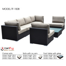 2016 new style wicker patio sofa couch set sectional black.